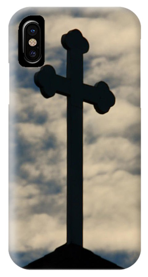 Cross IPhone X Case featuring the photograph The Cross by Dave Smith