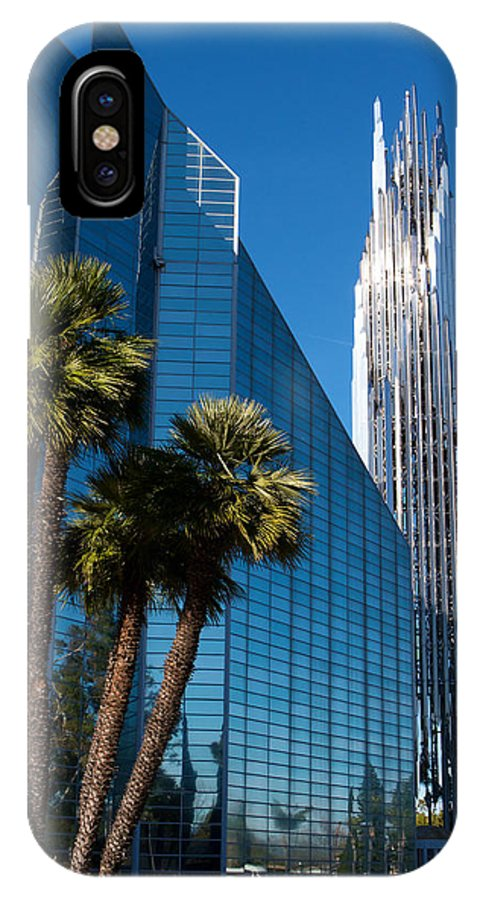 The Crystal Cathedral IPhone X Case featuring the photograph The Crystal Cathedral by Duncan Selby