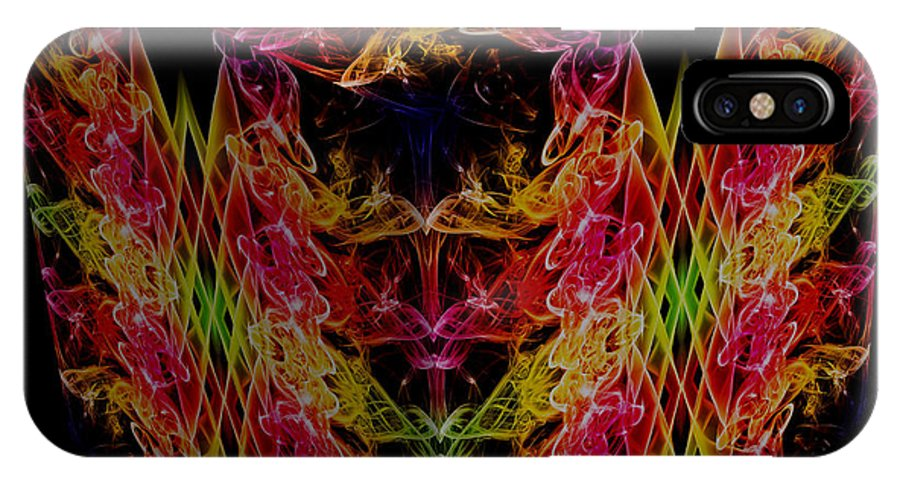 Smoking Trails IPhone X Case featuring the photograph The Cube 1 by Steve Purnell