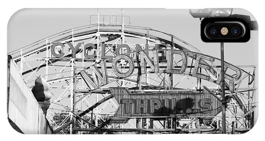 Brooklyn IPhone X Case featuring the photograph The Cyclone In Black And White by Rob Hans