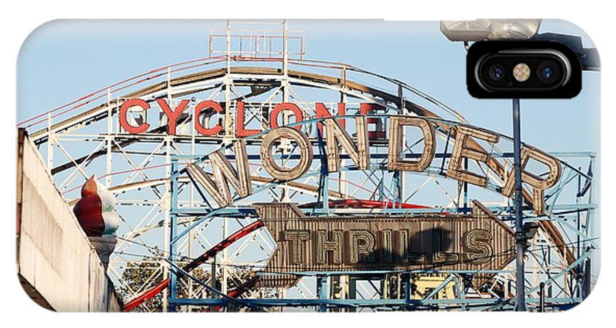 Brooklyn IPhone X Case featuring the photograph The Cyclone by Rob Hans