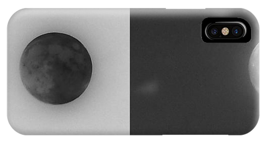 Darkside IPhone X / XS Case featuring the photograph The Darkside Of The Moon by Kimberly Woyak