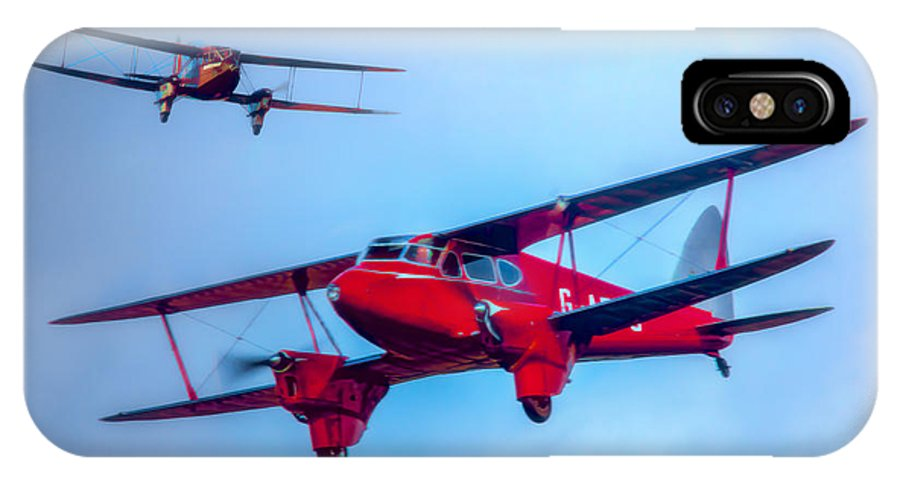 De Havilland IPhone X Case featuring the photograph The De Havilland Dh90 Dragonfly by Chris Lord