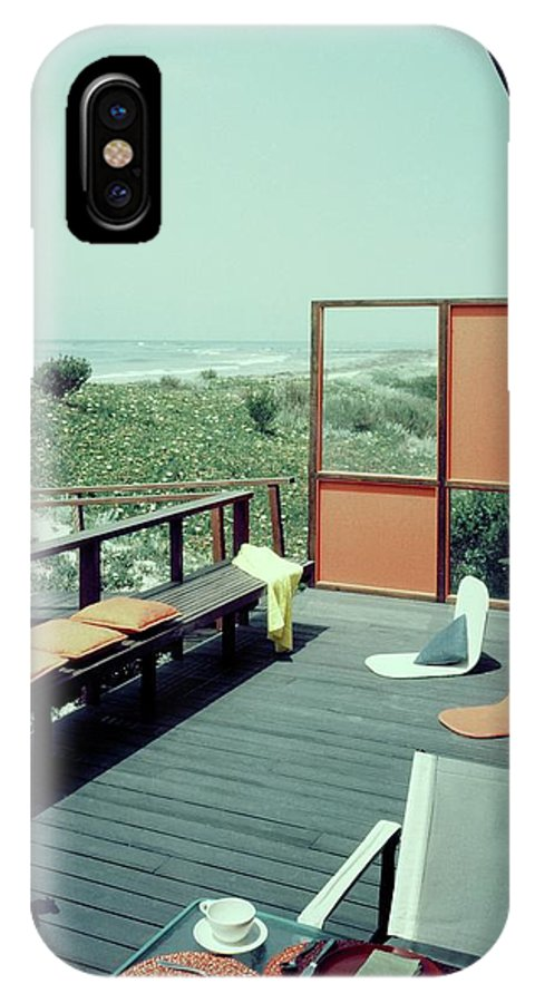 Lovely Architecture IPhone X Case Featuring The Photograph The Deck Of A Beach  House By George De