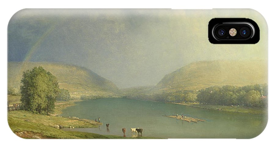 George Inness IPhone X Case featuring the painting The Delaware Water Gap by George Inness