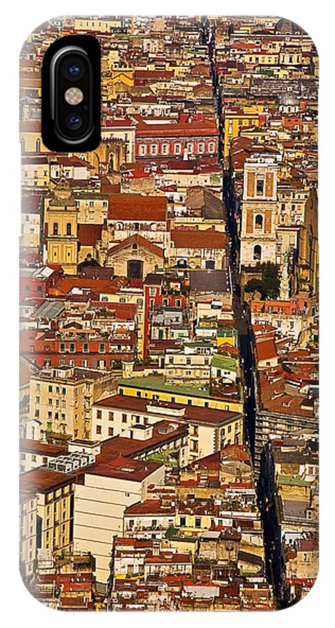 Naples IPhone X Case featuring the photograph The Divided City by Enrico Della Pietra