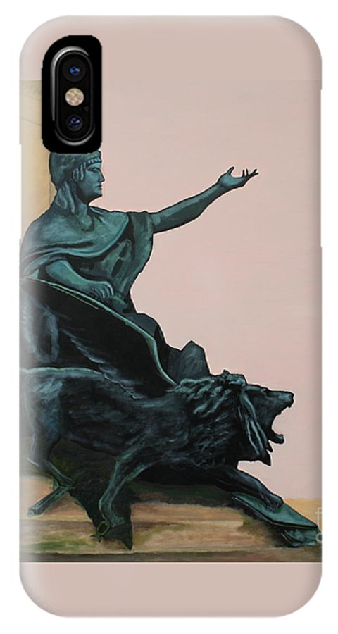 Lion IPhone X Case featuring the painting The Doge And Winged Lion At Venice by Robert Harris