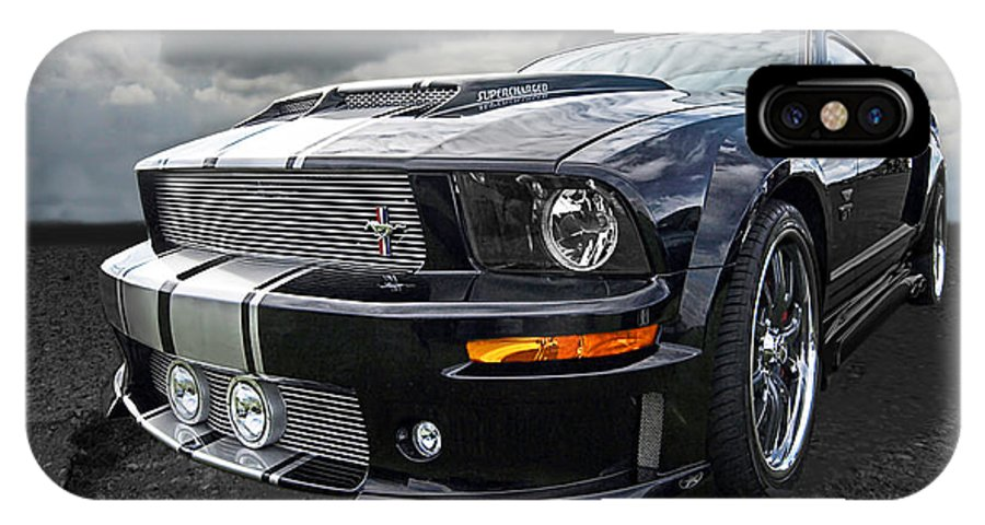 Ford Mustang IPhone X Case featuring the photograph The Dominator - Cervini Mustang by Gill Billington