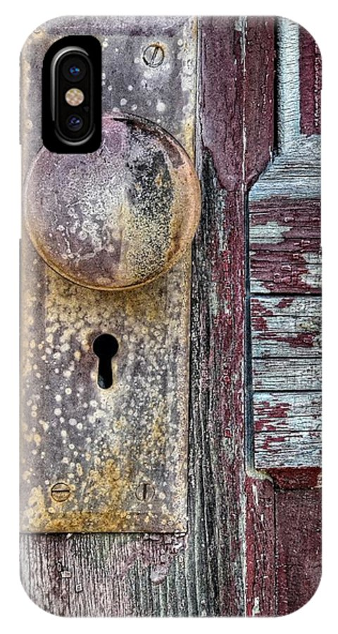 Door IPhone X Case featuring the photograph The Door Knob by Ken Smith