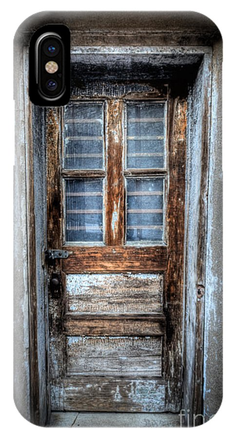 Pa IPhone X Case featuring the photograph The Door by Michael Ver Sprill