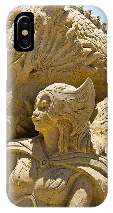 Sand Castle IPhone X Case featuring the photograph The Dragon And The Goddess by Tom Gari Gallery-Three-Photography