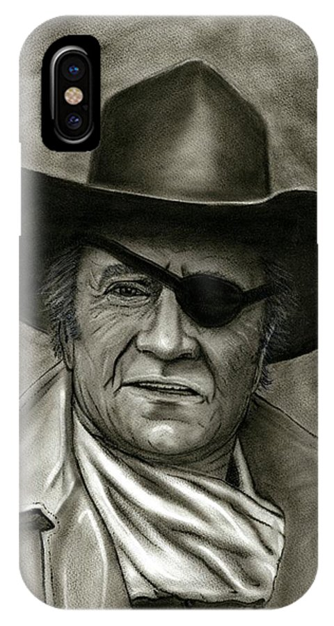 John Wayne IPhone X Case featuring the painting The Duke - Rooster Cogburn by Ken Decker