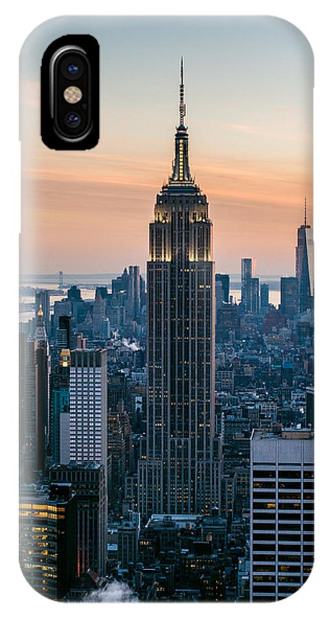 America Photographs IPhone X Case featuring the photograph The Empire City by Sean Mathews