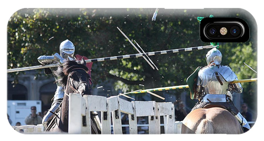 The End To A Jousting Contest IPhone X Case featuring the photograph The End To The Jousting Contest by John Telfer