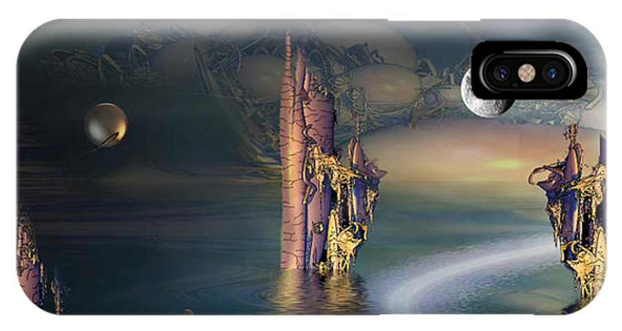 Phil Sadler IPhone X Case featuring the digital art The Endless River by Phil Sadler