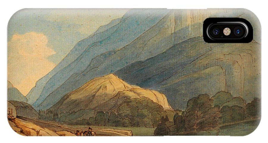 Francis Towne - The Entrance Into Borrowdale IPhone X / XS Case featuring the painting The Entrance Into Borrowdale by Celestial Images