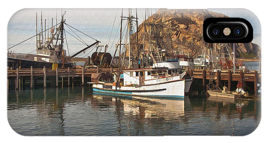 Morro Bay IPhone X Case featuring the digital art The Ermeony by Sharon Foster