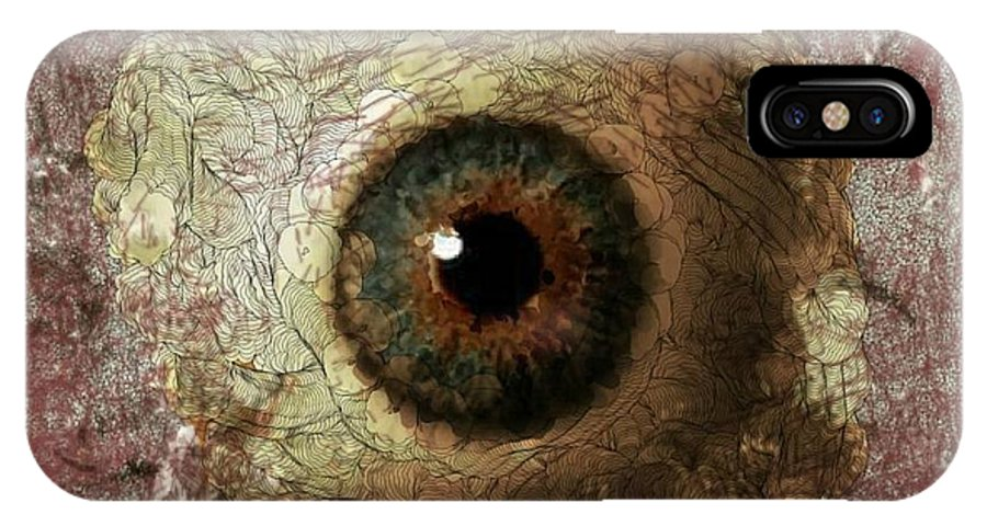 Autism IPhone X Case featuring the digital art The Eyes 12 by Holley Jacobs