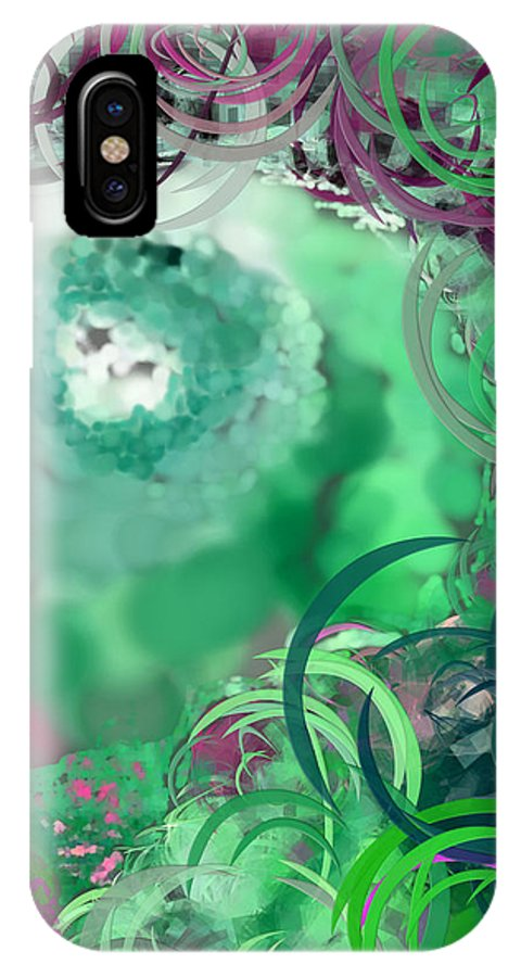 Eyes IPhone X Case featuring the digital art The Eyes Have It Teal by Holley Jacobs
