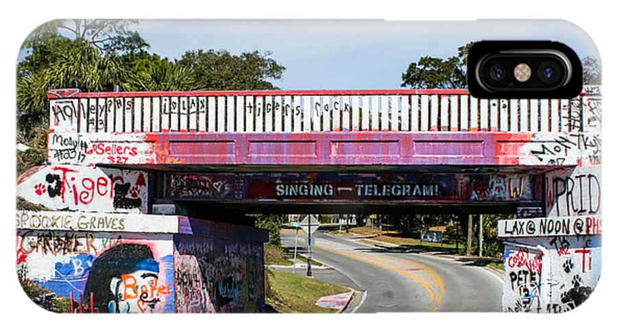 Graffiti Bridge Pictures IPhone X Case featuring the photograph The Famous Graffiti Bridge by Mechala Matthews