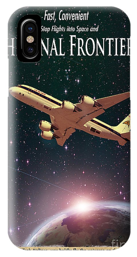Advertisement IPhone X Case featuring the photograph The Final Frontier by Juli Scalzi