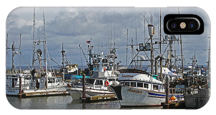 The Fishing Boats At Westport IPhone X Case featuring the photograph The Fishing Boats At Westport by Tom Janca