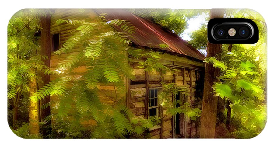 Cabin IPhone X Case featuring the photograph The Fixer-upper by Lois Bryan
