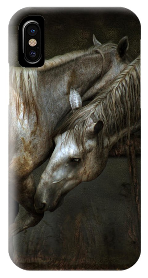 Horse IPhone X Case featuring the photograph The Flamenco by Angel Ciesniarska