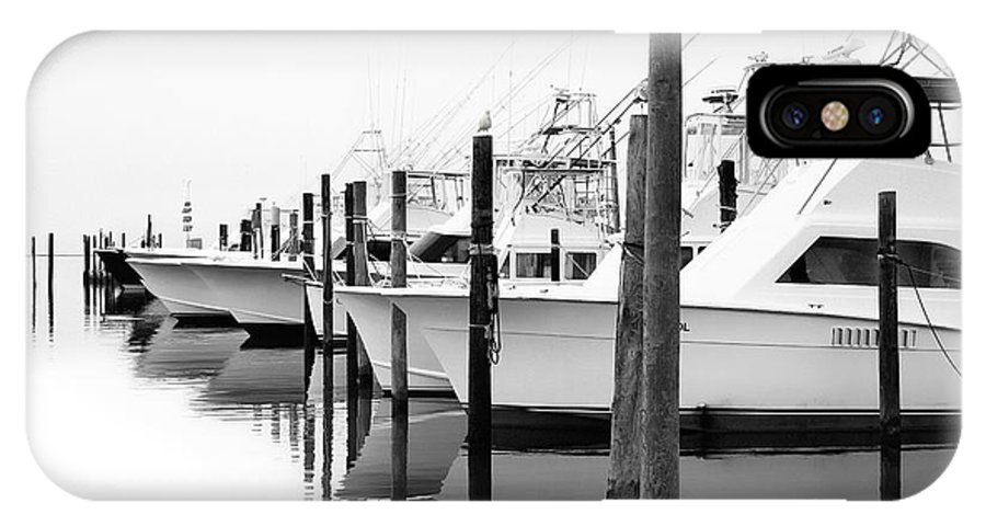 Outer Banks IPhone X Case featuring the photograph The Fleet Awaits - Outer Banks by Dan Carmichael