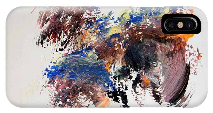 Stomp IPhone X / XS Case featuring the painting The Footstep by Edward Wolverton
