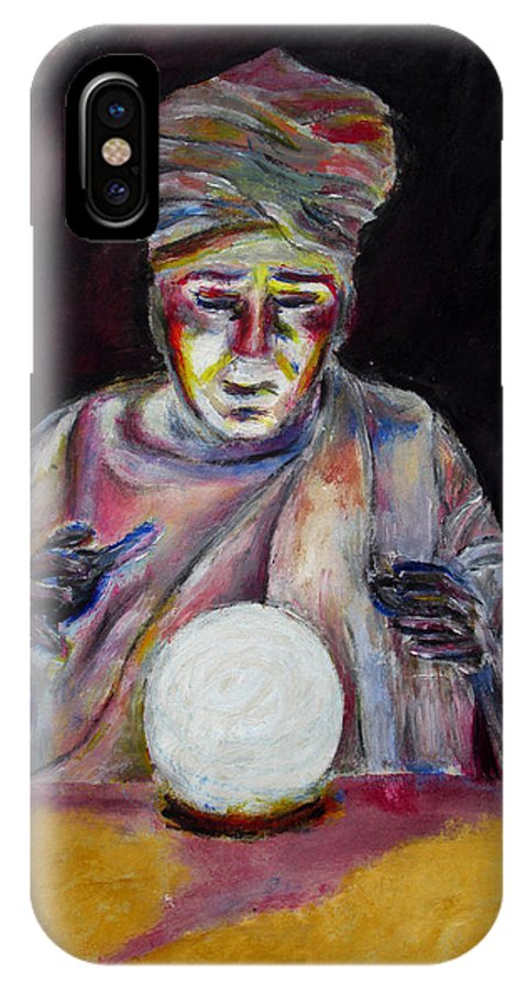 Fortune Tellers IPhone X Case featuring the painting The Fortune Teller by Tom Conway