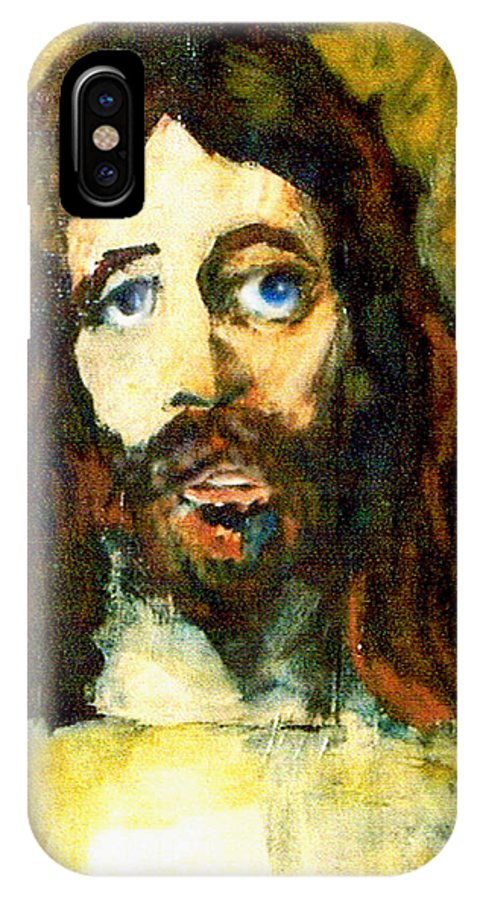 Jesus Christ IPhone X Case featuring the painting The Galilean by Seth Weaver