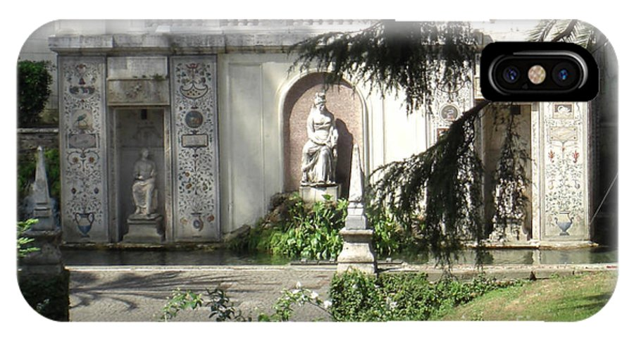 Rome IPhone X Case featuring the photograph The Garden At The Pope's Private Residence by Deborah Smolinske