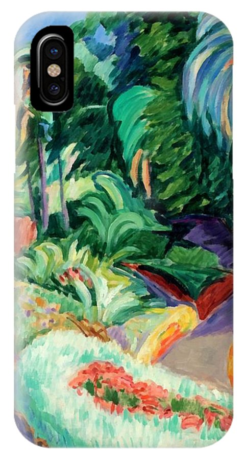 The Garden IPhone X / XS Case featuring the digital art The Garden by Francisco Iturrino