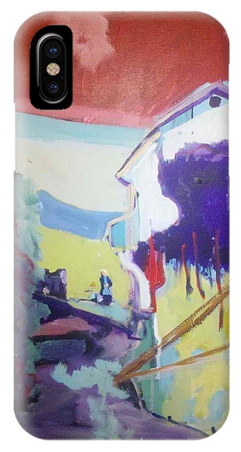 Farm House IPhone X Case featuring the painting The Garden by Kurt Hausmann
