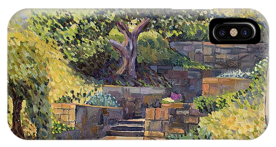 Impressionism IPhone Case featuring the painting The Garden Stairs by Don Perino