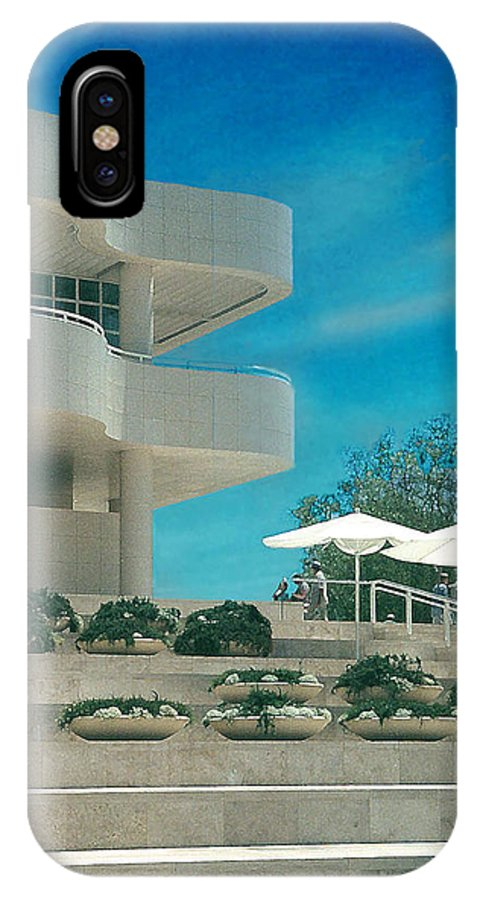 Landscape IPhone X Case featuring the photograph The Getty Panel 1 by Steve Karol