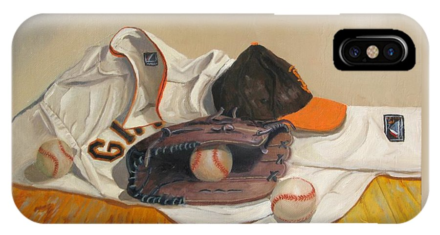 San Francisco Giants Painting IPhone X Case featuring the painting The Giant Sleeps Tonight by Ryan Williams