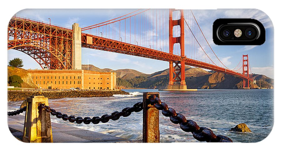 Golden Gate IPhone X Case featuring the photograph The Golden Gate by Brian Jannsen