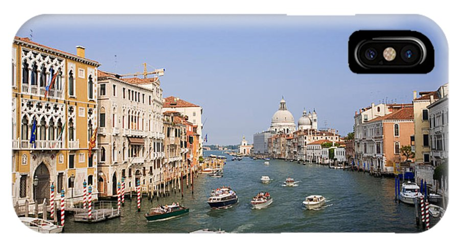 Tourism IPhone X / XS Case featuring the photograph The Grand Canal, Venice by David Davis