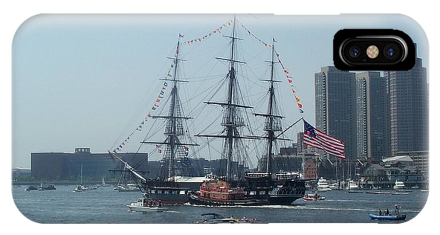 Boston Harbor IPhone Case featuring the photograph The Grand Old Dame Turns by Barbara McDevitt