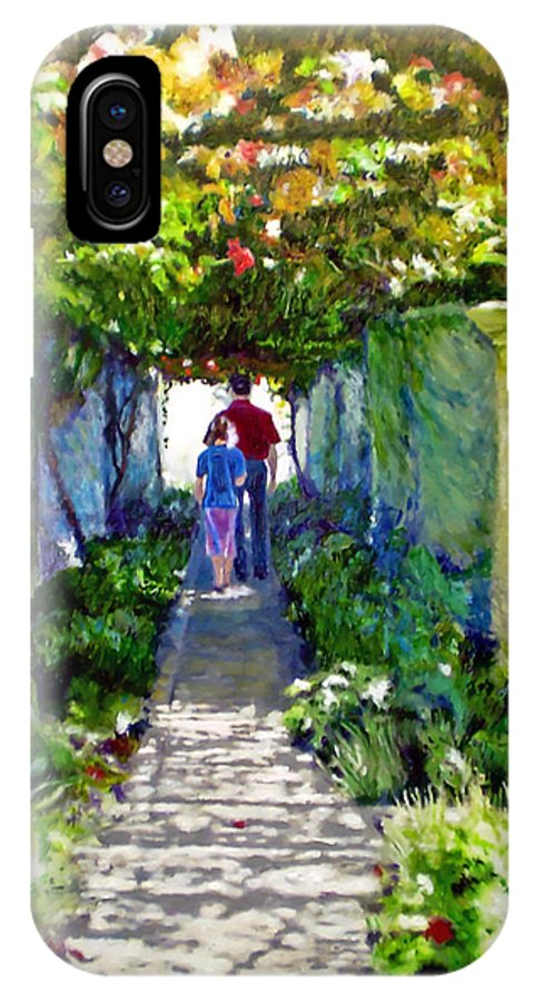Vineyard IPhone X Case featuring the painting The Grape Trellis by Michael Durst