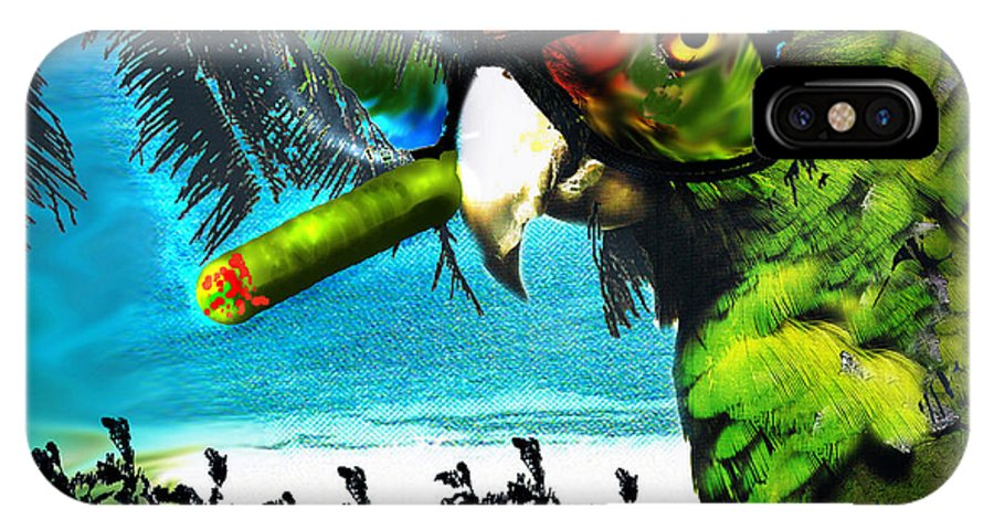 The Great Bird Of Casablanca IPhone X Case featuring the digital art The Great Bird Of Casablanca by Seth Weaver