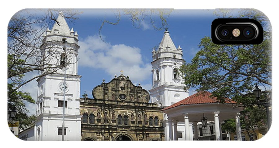City Of Panama Cathedral IPhone X Case featuring the photograph The Great Lady B by Vladimir Berrio Lemm