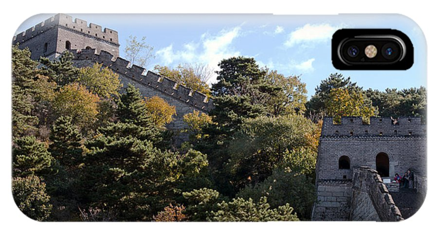 Watchtowers On The Great Wall IPhone X Case featuring the photograph The Great Wall 673 by Terri Winkler