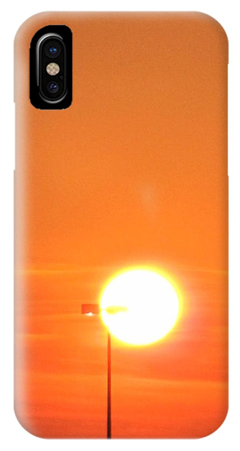 Sunset IPhone X Case featuring the photograph The Greater Light... by Frank Chipasula