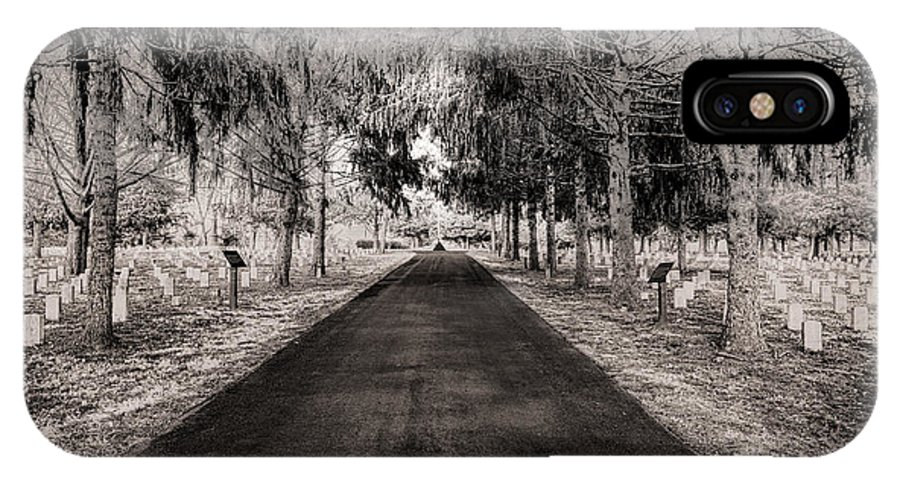 Stones River National Cemetery IPhone X Case featuring the photograph The Green Mile by Brett Engle