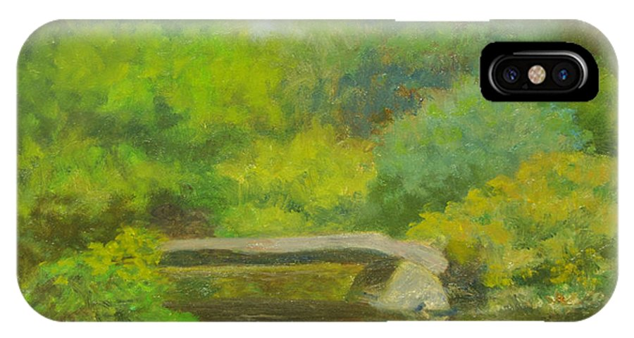 Landscape IPhone X Case featuring the painting The Greens of Summer by Phyllis Tarlow