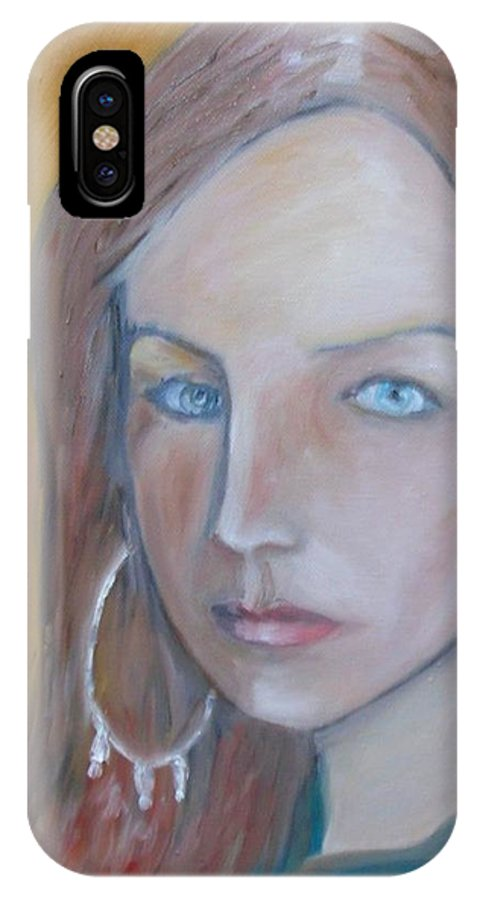 Portraiture IPhone Case featuring the painting The H. Study by Jasko Caus