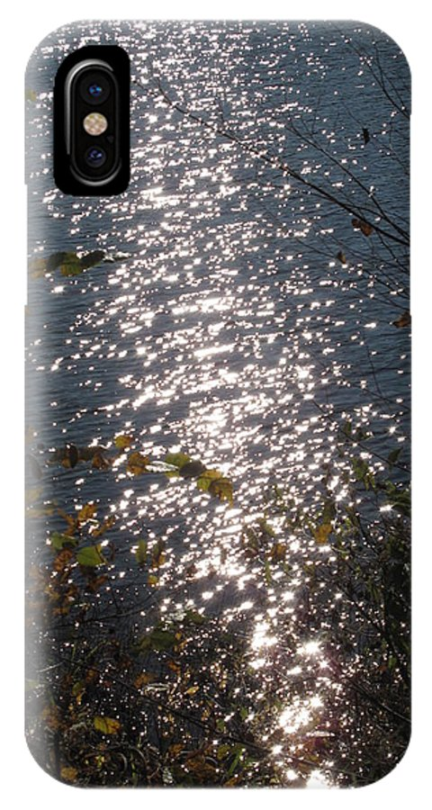 Sunlight On Water IPhone X Case featuring the photograph The Happiest Little Lake In Illinois by Frank Chipasula